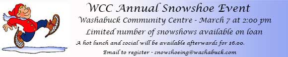 wcc snowshoeing event
